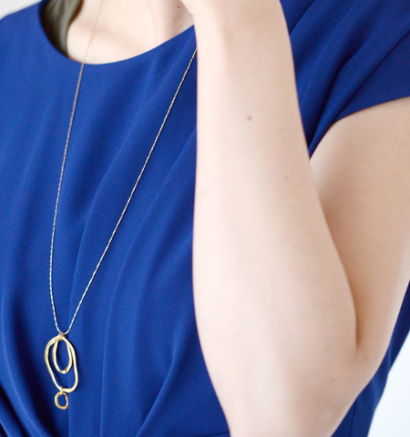 "Joli&Micare|""5Rings long Necklace"" fir0105-mm"