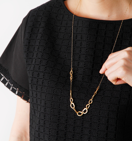 "Joli&Micare|ネックレス""Ring long Necklace"" fir0107-mm"