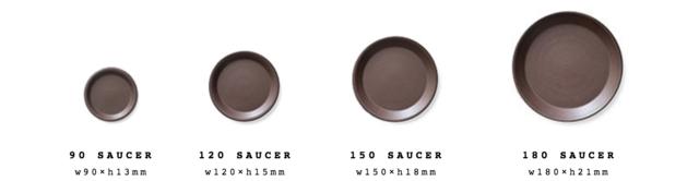 室内に飾る場合は、受皿をあわせると水やりの際に便利です。  <対応ポット> 90 saucer:90 pot 120 saucer: 120 pot, 130 pot 150 saucer: 150 pot, 160 pot 180 saucer: 200 pot