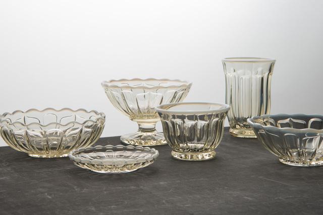 左から丸小鉢、豆皿、フラッペ、冷茶グラス、タンブラー、デザートボール
