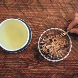 廣田硝子|雪の花 古代色 ガラス豆皿