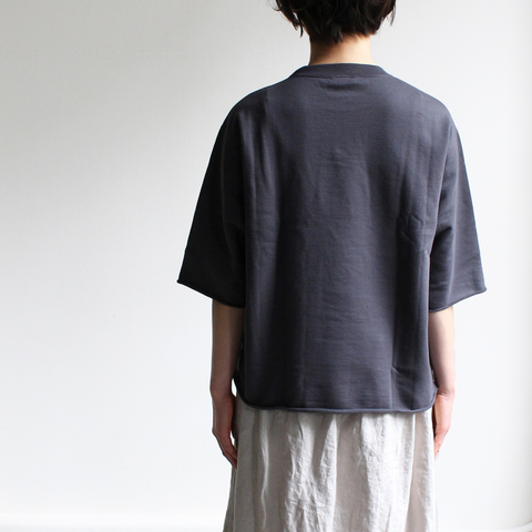 AURALEE|SUPER HIGH GAUGE SWEAT CUT OFF TEE