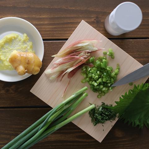 PORLEX|薬味の道具3点セット【薬味おろし・スパイスミル・ひのき薬味まな板】
