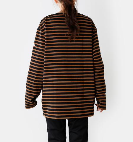 ORCIVAL コットン100%長袖バスクビッグシャツ b211clw-sn