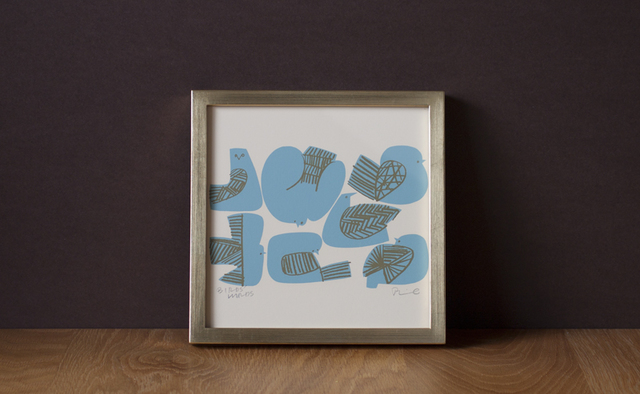 BIRDS' WORDS│SILK SCREEN FRAME