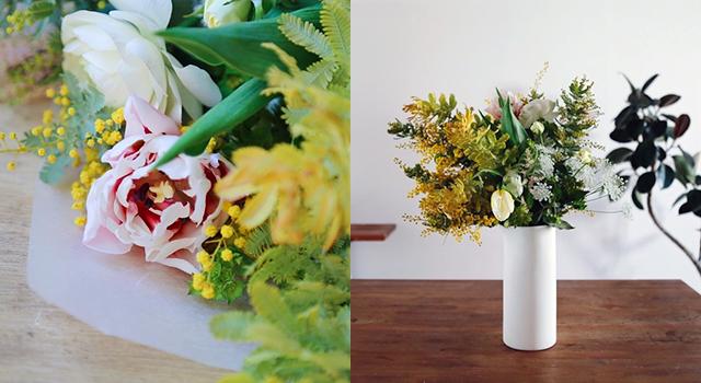 ex. | spring flower bouquet ミモザと春の花のブーケ