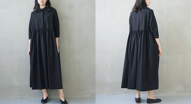 Mochi shirt dress[ms02-op-05/black]