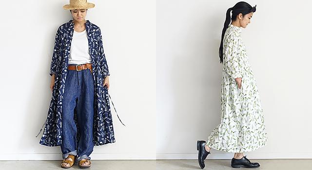 ichi Antiquités|Flower Linen Dress