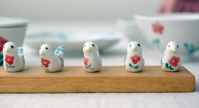 米満麻子|小鳥の箸置き