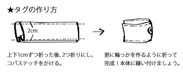 (7-1)幅2cmのタグを作ります。