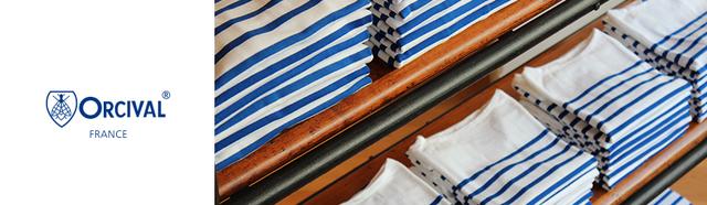 チャールズバルト氏が「ORCIVAL」というフランス中部の小さな町の名前を使い、1939年に創業したブランドです。1950~60年代にはフランス海軍に制服としてマリンTシャツを提供していた由緒あるブランドです。