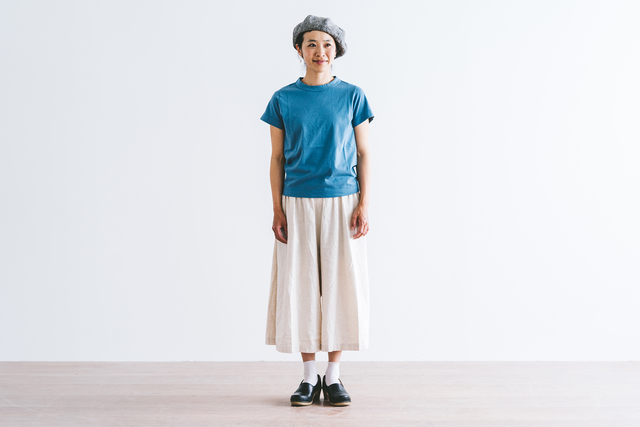 半袖カットソー サックス / S着用