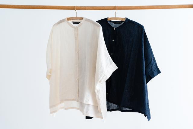 カラーバリエーションは、 あたたかみのあるホワイトと深い色合いのネイビーの2色です。